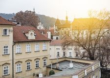 Ancient house in Prague Royalty Free Stock Photos