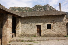 Ancient house in Pyrenees Royalty Free Stock Photography