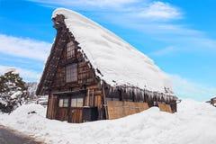 Ancient house Shirakawago village in Japan. Royalty Free Stock Photography