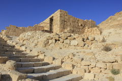 Ancient House and Stairs in Avdat, the Nabatean City Stock Images