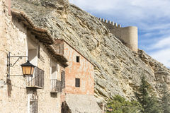 Ancient houses in Albarracin town. Some ancient houses in Albarracin town, Teruel, Spain royalty free stock photos