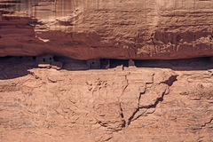 Ancient Houses in a Canyon Wall Stock Image