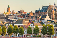 Ancient houses in the Dutch city of Nijmegen Royalty Free Stock Photography