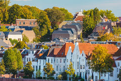 Ancient houses in the Dutch city of Nijmegen Stock Image