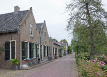 Ancient houses in the Dutch village of Drimmelen Stock Image