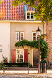 Ancient houses in the Dutch village of Harderwijk Stock Image