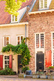 Ancient houses in the Dutch village of Harderwijk Stock Photos