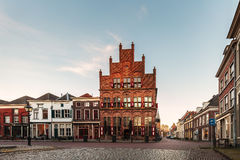 Ancient houses in the historic Dutch city of Doesburg Stock Images
