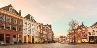 Ancient houses in the historic Dutch city of Zutphen Stock Photo