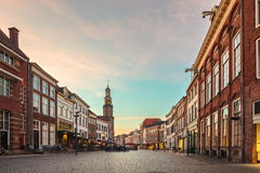 Ancient houses in the historic Dutch city of Zutphen Stock Photography