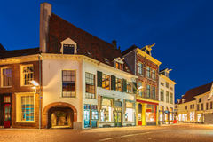 Ancient houses in the historic Dutch city of Zutphen Royalty Free Stock Photos