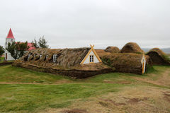 Ancient houses in Iceland. Stock Images