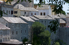 Ancient houses in Mostar Royalty Free Stock Photography