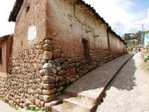 Ancient houses in Peru. Old houses in Peruvian town Stock Images