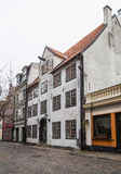 Ancient houses on a street in Riga Stock Image
