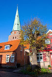 Ancient houses in Travemunde city, Germany Stock Image