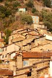 Ancient houses in the village of Apricale, Italy Royalty Free Stock Image