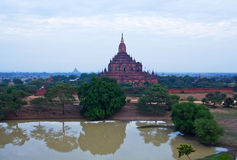 Ancient Htilominlo pagoda in Bagan archaeological zone, Myanmar Royalty Free Stock Image