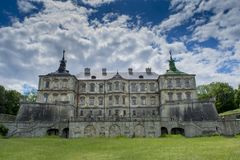 Ancient huge old amazing Pidhirtsi castle Royalty Free Stock Photos