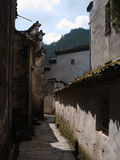 Ancient Huizhou architecture. Cloudy., narrow streets Royalty Free Stock Images