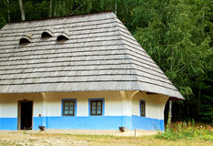 Ancient hut. Ancient traditional ukrainian rural cottage, Pirogovo, Kiev Royalty Free Stock Photography