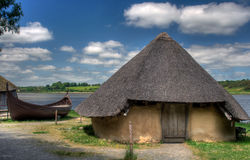 Ancient hut. Anciet hut in the Irish Heritage Museum in Ireland royalty free stock photography