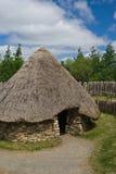 Ancient Hut. At the Irish Heritage Museum in Ireland stock image