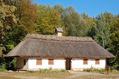 Ancient hut with a straw roof Royalty Free Stock Images