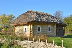 Ancient hut with a straw roof Royalty Free Stock Photography