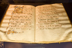 Ancient hymn-book Royalty Free Stock Photo