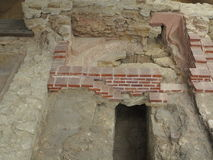 Ancient hypocaust channel Royalty Free Stock Image