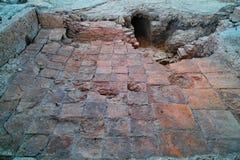 Ancient hypocaust floor Stock Images