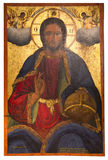Ancient icon from monastery of the Panayia Kera.Island of Crete Royalty Free Stock Photography