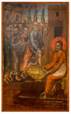 Ancient icon from monastery of the Panayia Kera.Island of Crete Stock Photography