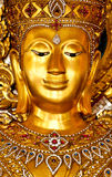 Ancient image of buddha with gold background Stock Photo