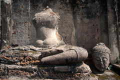 Ancient image Buddha statue . Royalty Free Stock Photography