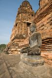 Ancient image buddha statue at Sukhothai Royalty Free Stock Photography