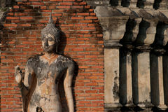 Ancient image Buddha statue in Sukhothai city. . Royalty Free Stock Image