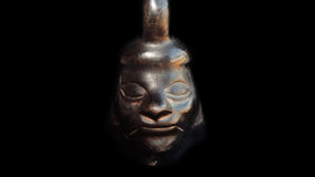 Ancient Inca Ceramic. Black Pottery Sculpture Ceramic Inca Peru Stock Images