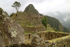 Ancient Inca Citadel of Machu Picchu, the New Seven Wonder of the World in Cusco Region, Urubamba Province, Peru. Ancient Inca Citadel of Machu Picchu, the New stock photo