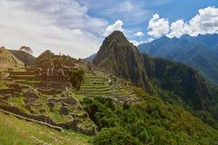 Ancient Inca culture. In Peru. Machu Picchu unesco protected place Stock Images