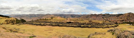Ancient Inca fortress Saksaywaman, Cusco, Peru Royalty Free Stock Images
