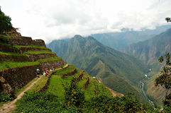 Ancient Inca Ruins. Along the Inca Trail in Peru Royalty Free Stock Photos