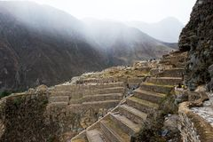 Ollantaytambo - Inca ruins in Peru stock photo