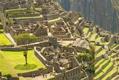 Ancient Inca ruins of Machupicchu. Panoramic view of the hidden Inca sanctuary of Machupicchu. Cusco, Peru, South America Stock Photography