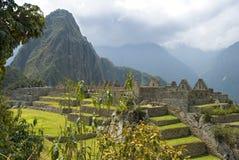 Ancient Inca ruins of Machupicchu. Panoramic view of the hidden Inca sanctuary of Machupicchu. Cusco, Peru, South America Royalty Free Stock Photos