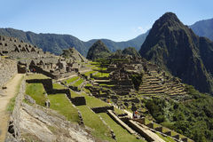 Ancient Inca ruins of Machupicchu Royalty Free Stock Images