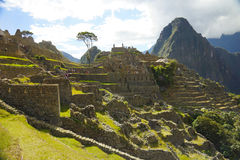 Ancient Inca ruins of Machupicchu Stock Photo