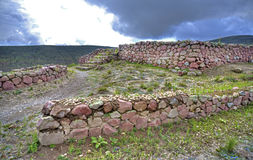 Ancient Inca ruins of Rumicucho Royalty Free Stock Photos