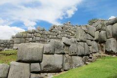 Ancient inca ruins of Sacsayhuaman near Cusco, Peru stock photos
